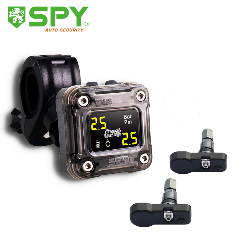 SPY professional motorcycle tpms for real time monitoring tire pressure and temperature
