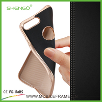 Ultra Slim Magnetic Wholesale Electroplated Business Style Leather Smart Cover Cases for iPhone 7 Plus