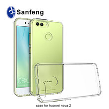 Hard Back Plastic PC+Tpu Crystal Clear Hard Phone Case for Huawei Nova 2 Plus
