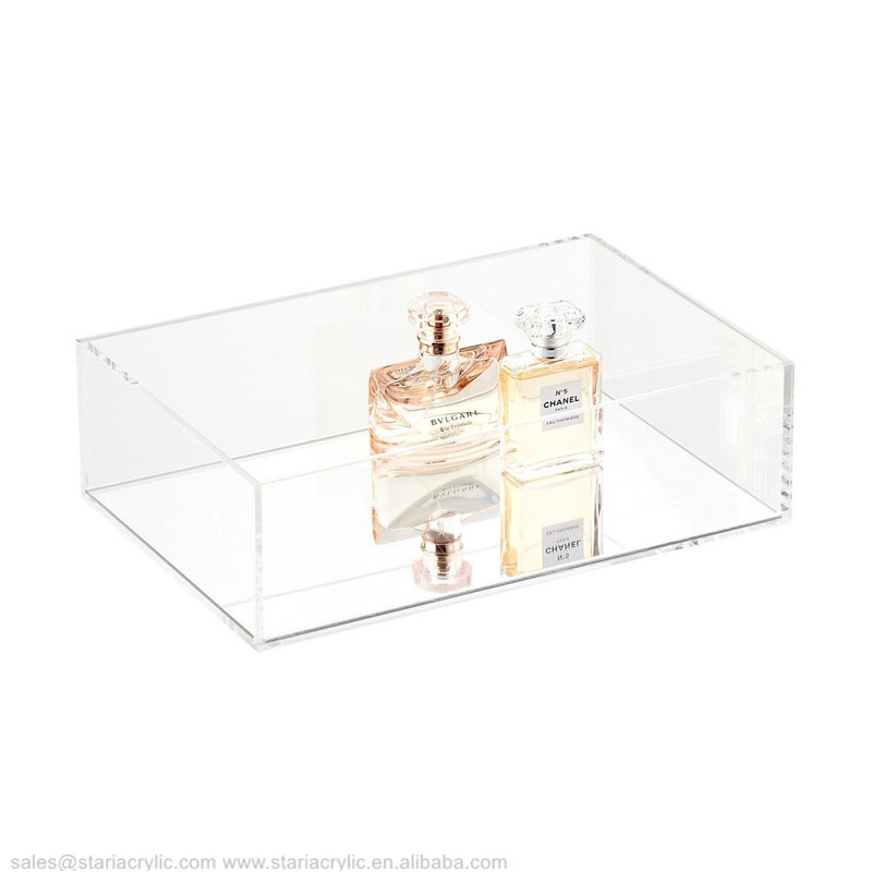 Clear Acrylic Storage Containers Acrylic Tray With Clear Base Acrylic Cosmetic Makeup Desk Organizer
