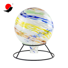 Wholesale 10 Inch Colored Fashion Glass Gazing Bowling Ball For Garden Decoration