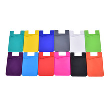 2017 Hot Sale Nice Fashion Adhesive Sticker Back Cover Card Holder Case Pouch For Cell Phone 12 Colors
