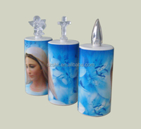 Abs virgin mary night light/funeral candles