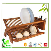 Superior quality cheap bamboo dish display rack