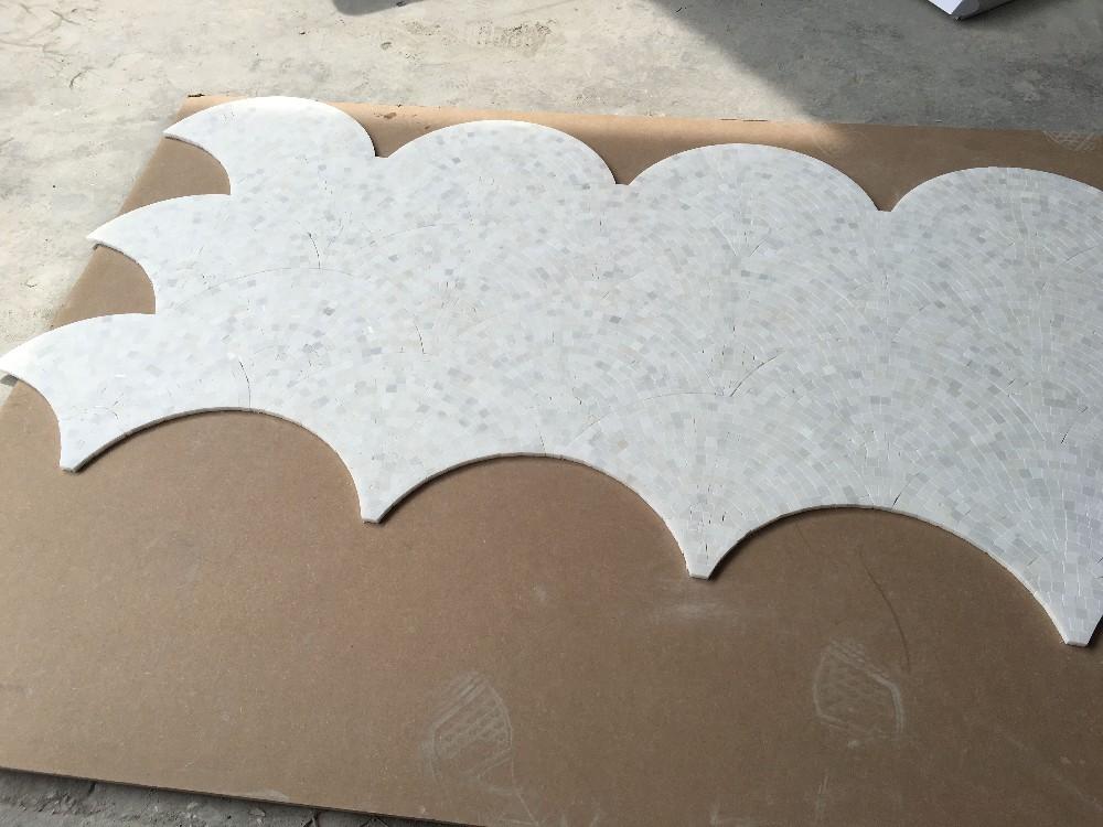 Blanco italiano m rmol medio ventilador en forma de for Marmol italiano tipos