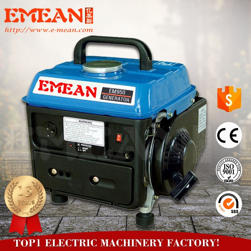 650W Gasoline Generator 950 Portable Generator for cutting of electricity