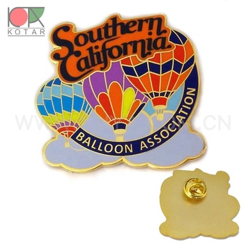 custom balloon shaped enamel lapel pin