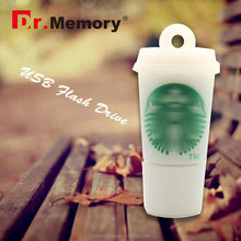 Dr.memory wholesale alibaba starbucks PVC/RUBBER/SILICONE 2GB 4GB 8GB 16GB usb flash drive 2.0 memory cards usb gedget promotion
