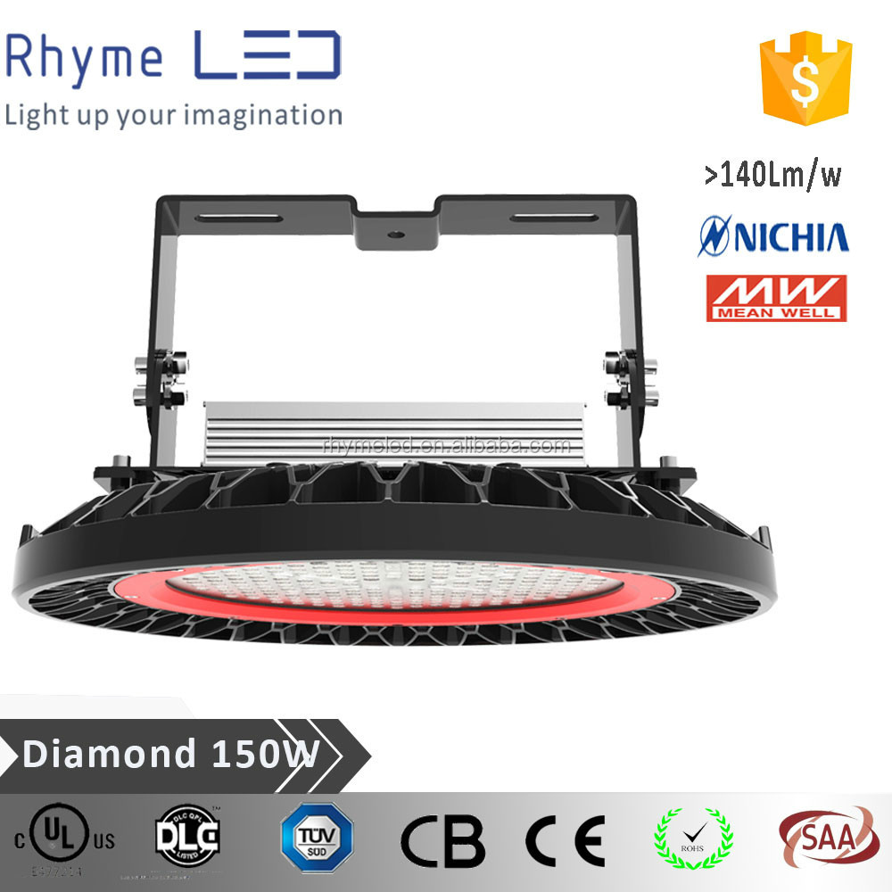 top quality ul dlc ufo 150w led high bay light for outdoor