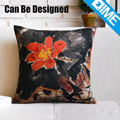 Traditional ink painting modern sublimation printed zipper plain pillow cases