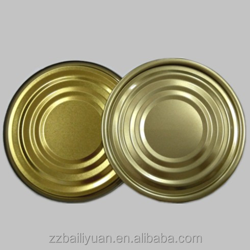 manufacturer directly sale food grade easy open can lid 99 mm metal tin round clear lid small round tin can lids