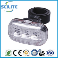 Bike accessories Mountain bicycle head lamp 3 super bright white LED front light