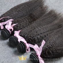 Alibaba Express Hot Sale Kinky Straight Yaki Hair Weave Virgin Brazilian Yaki Perm Straight Hair Factory Price
