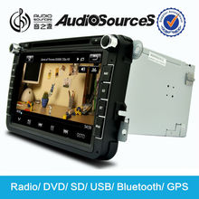 "8"" touch screen Car dvd radio player with gps/bluetooth/SD/USB/Iphone/Ipod etc functions for VW & Skoda car"