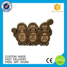 personalized hard enamel monkey pins