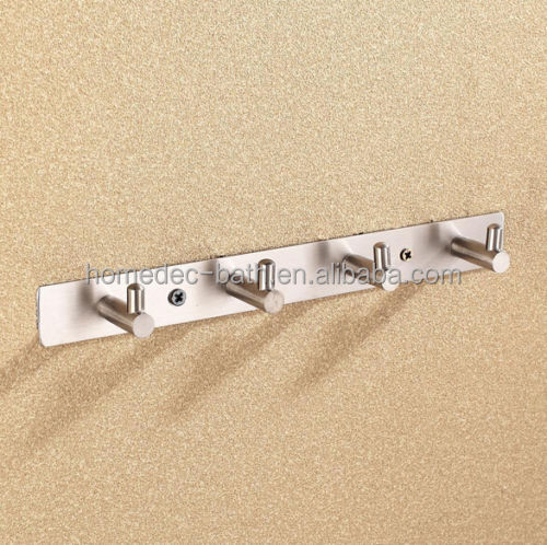 Modern decorative bathroom hanging towel clothes wall metal robe coat hook