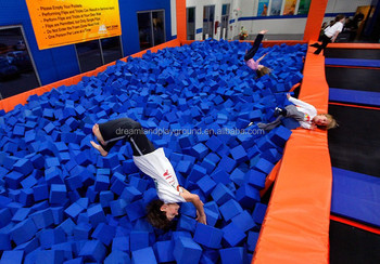 TUV approval trampoline park indoor foam pit cube