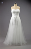 2015 Factory Suzhou SHMY-W298 Strapless Tulle A-Line Wedding Dress French Lace Fabric