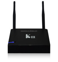 Amlogic s905 kiii android 5.1 dvb smart tv box UHD 4K 3D 2.4/5G Dual WiFi DLNA Airplay Miracast Kodi preinstalled