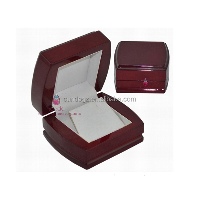 vintage wooden jewelry case piano lacquered pearl earring box