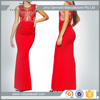 2016 latest design fashion wedding red maxi long dress hot sale slim fit sexy lady dress