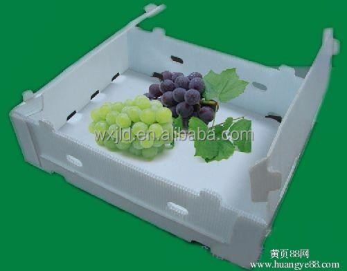 Non-toxic plastic pp corrugated box for grapes packing