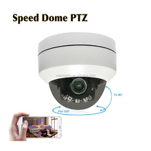2MP Vandalproof PTZ Super Mini Dome POE 5x Optical zoom wifi ip hidden camera with street led lamp IP Camera 1080p