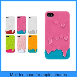 Pink Melt 3D Ice Cream Hard Smart Back Case Cover Skin Protector for iPhone 4 4G 4S