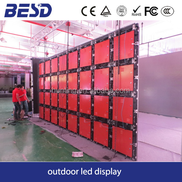 Die-casting aluminium full color P10 outdoor mobile stage rental led panels made in China