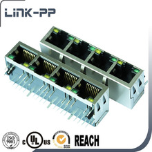 10/100Base-TX Multi Port (1x4) RJ45 Connectors RJ45 Connectors Modular PCB Jack Connector