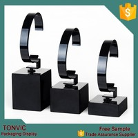Black Clear Acrylic Watch Display 3 Pcs One Set