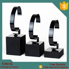 Black Clear Acrylic Watch Display 3 Pcs One Set