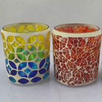 glass crafts,shanghai wholesale glass goblet candle holder