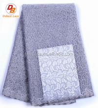 Multi-color high quality fashion african embroidered net lace fabric