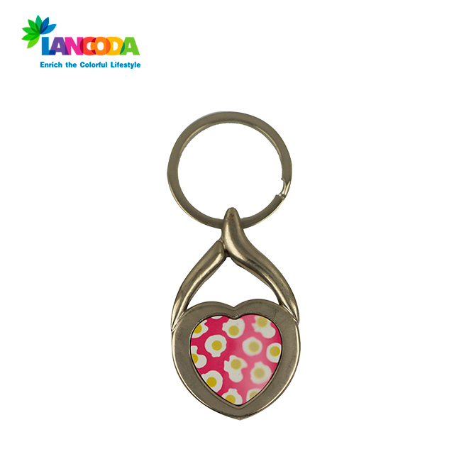 Good quality sublimation metal keychain