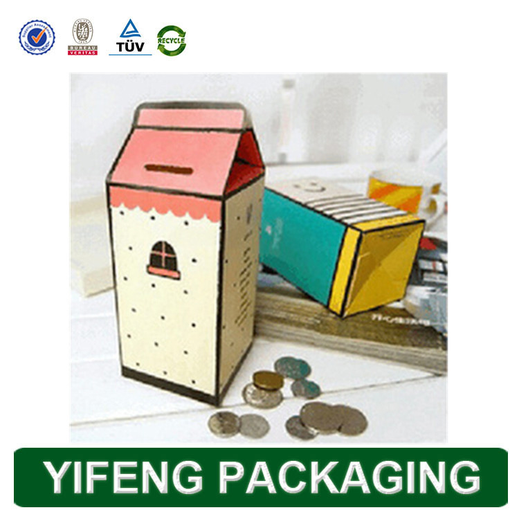Custom Printing Handmade Eco-friendly Paper Coin Safe Box