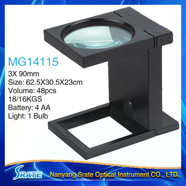 MG14115 Foldable Printers Magnifying Glass with Light