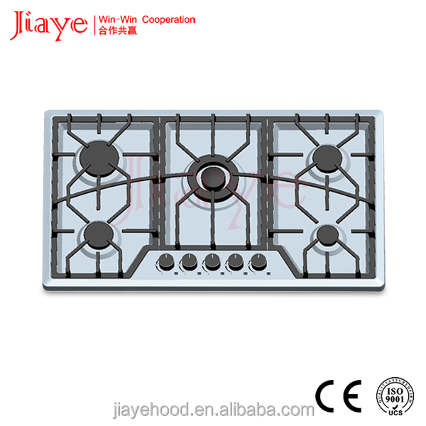 2017 hot new products 5 burners built in gas hob,Wholesale factory price new design built in gas cooker hob with CE JY-S5080
