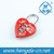 Red plastic heart shaped big size love padlock heart padlock
