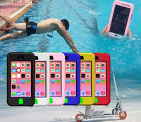 oem is welcome; waterproof phone case for apple iphone 5c best selling summer style cellphone case for iphone 5c with shockproof