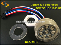 New style alibaba express small waterproof rgb led pixel light with diameter 38MM for advertising
