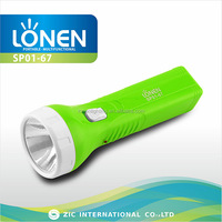 LONEN 1W long beam rechargeable powerful and cheap led flashlight