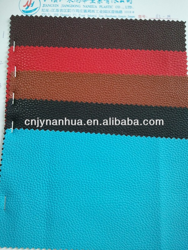 fabric&leather emboss pvc leather
