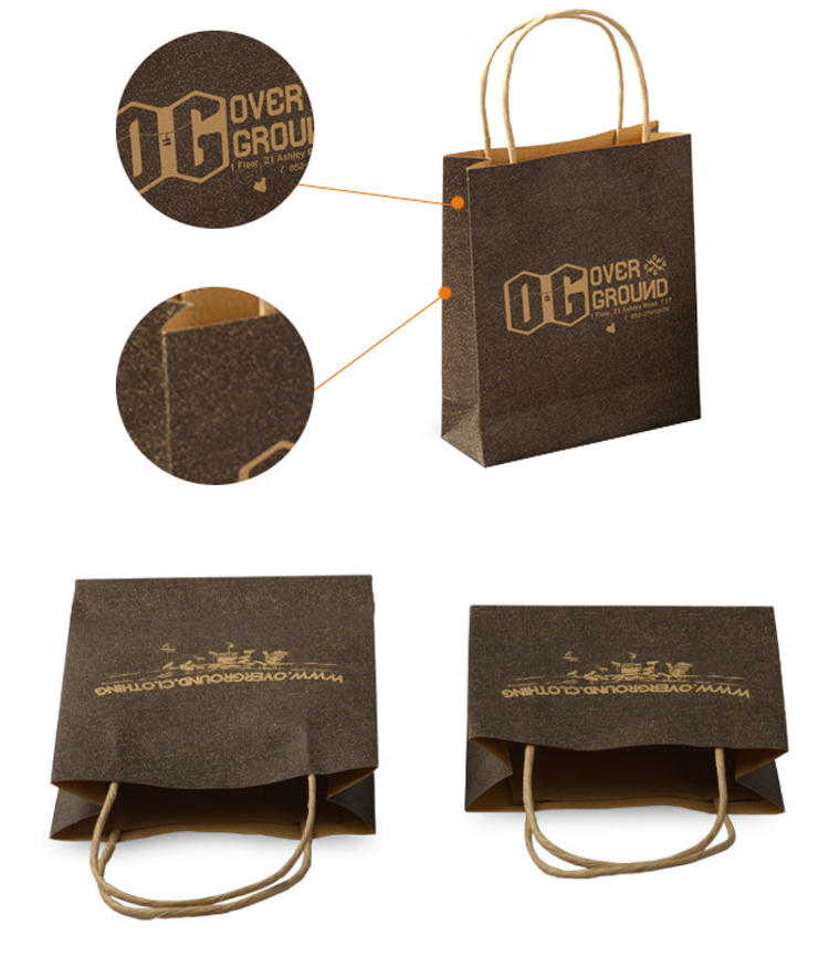 Factory Price Customized brown craft paper bags wholesale india