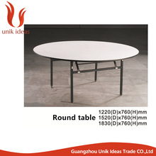 Hot sale 6ft and 8ft round PVC plywood folding table used banquet table