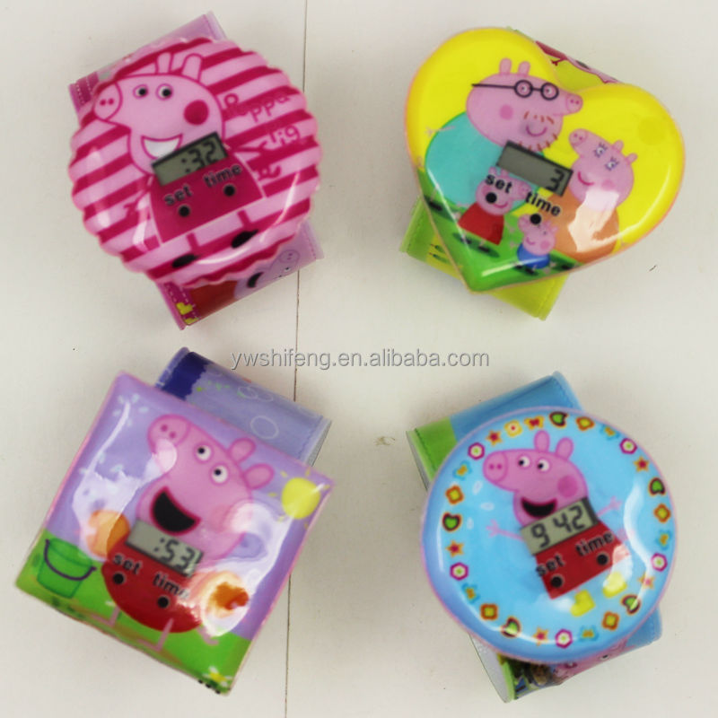 Dismountable Cute pig watches and children is very love