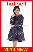 new fashion long waterproof raincoats for women