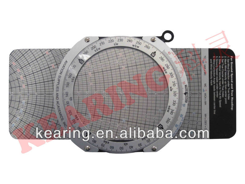 Kearing OEM aviation air speed circle calculater, round wheel E6B flight computer, professional pilot training#KCR-3