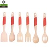 FSC/FDA 6PC Set Durable Wood Kitchen Utensils
