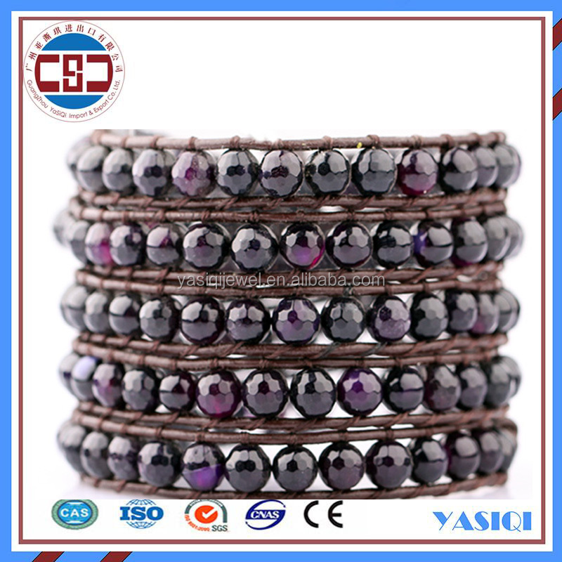 allibaba com fashion jewelry leather wrap bracelet natural stone jewelry gemstone 5 wraps layers bead bracelet men's watches